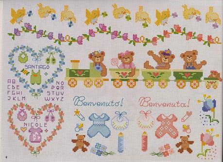 Schemi per il punto croce motivi per bambini a punto for Ricami punto croce per neonati