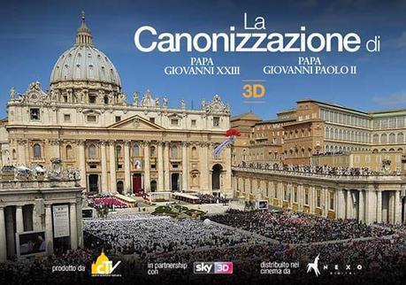 Canonizzazione Papa Roncalli e Wojtyla in diretta tv (su Sky anche in 3D)