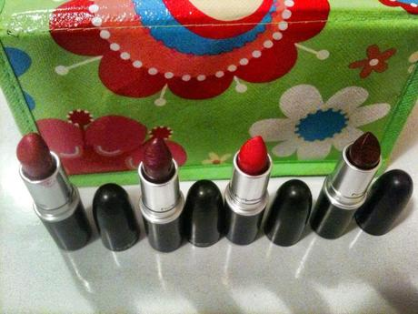 Review Rossetti MAC: Rebel, Ruby Woo, Russian Red & Hung up!