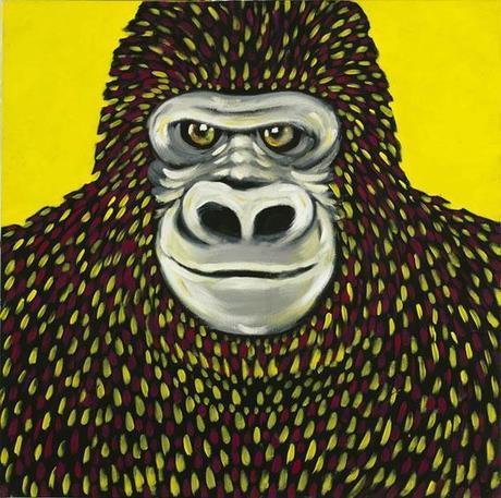 Daniele Nannini - tricromia di gorilla illustrazione