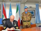 """Libano/ Comando Settore Ovest """"UNIFIL"""". Passaggio consegne Brigata """"Ariete"""" """"Granatieri Sardegna""""."""