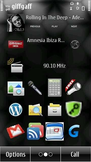 Nokia Internet Radio con homescreen widget