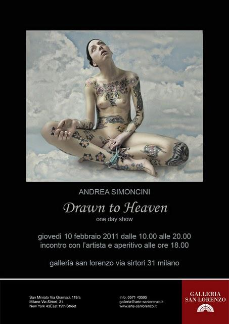 "A proposito di""DRAWN TO HEAVEN"" One day show di Andrea Simoncini... la Newsletter"