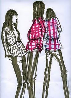 drawings...live from my course! Disegno di moda @ IUAV Cladem