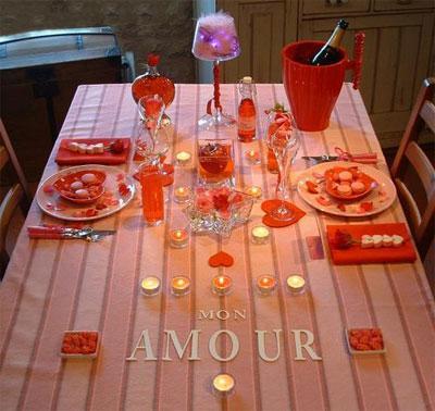 Apparecchiare e decorare la tavola di san valentino paperblog - Idee tavola san valentino ...