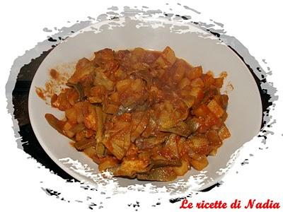 Carciofi e patate al curry