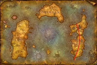 World of Warcraft map