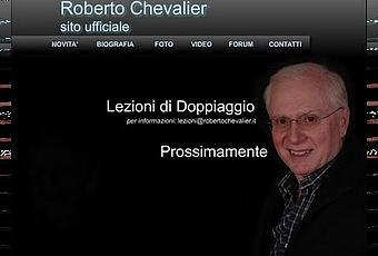 Torna online il sito ufficiale di roberto chevalier for Amazon sito ufficiale
