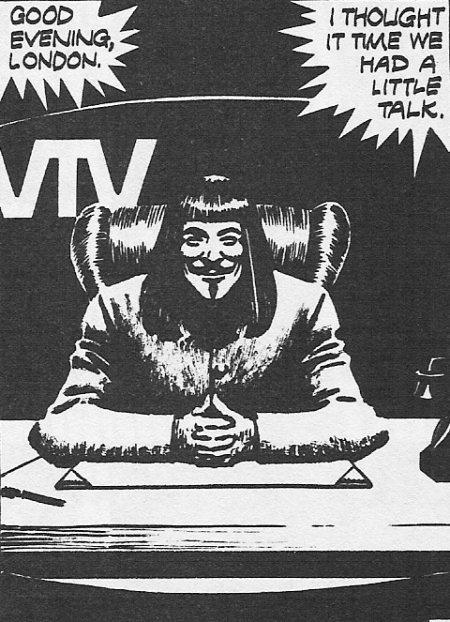 V for Vendetta Paper Mask