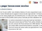 Svizzera, paga tassa: cane ucciso