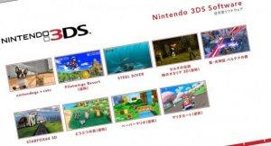 Ecco la line-up del 3DS