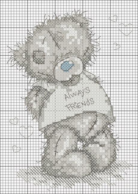 Raccolta di teneri orsetti a punto croce paperblog for Orsetti a punto croce schemi