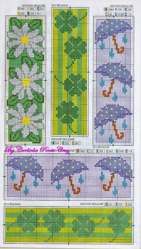 Risultati immagini per bordi per lenzuolini a punto croce t for Ricami punto croce per lenzuolini