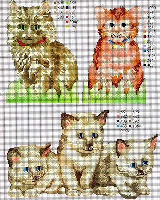 Schemi a punto croce gatti e gattoni paperblog for Schemi punto croce animali gratis