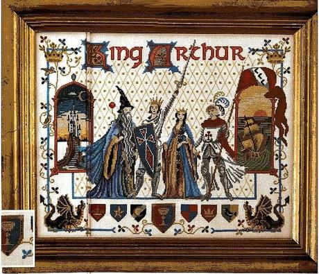 Schema punto croce re art e la tavola rotonda paperblog - La tavola rotonda di re artu ...