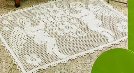 Schemi Per Il Filet Un Tappeto Con Gli Angeli Paperblog