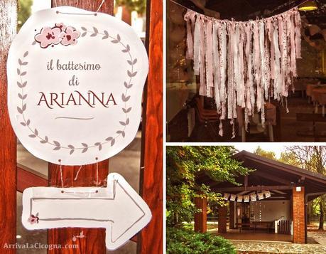 Festa di battesimo in stile shabby chic per arianna - Decorazioni per battesimo bimba ...