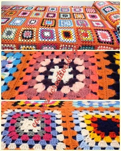 Coperta copriletto patchwork realizzata a mano a for Piccoli piani di coperta