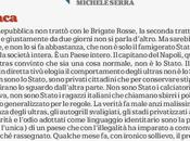 Michele Serra sulla trattativa Stato-Ultras