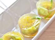 Amuse-bouche aspic speziato carciofi fagiolini