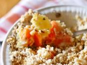 Crumble carote pastinache asiago nocciole Carrot parsnip crumble with cheese nuts