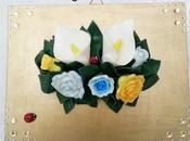 Idee regalo- Quadro floreale handmade
