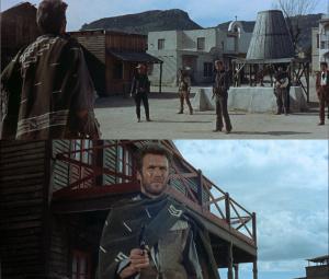 Clint Eastwood e Gian Maria Volontè, il duello finale di