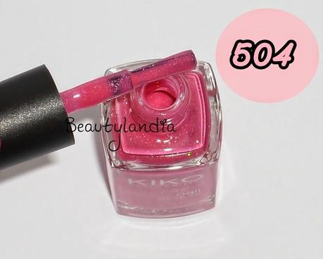 KIKO - Nuovi Nail Laquer N 485, 504, 505 (swatch e review) -