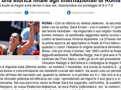 Grazie anticipo, piccole grandi donne Finale singolare Sara Errani (dopo anni!), finale doppo Roberta Vinci! femminili Foro Italico parlano solo italiano