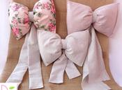 Tutorial Fiocchi nascita stoffa Shabby Fabric Birth Bows
