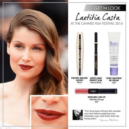 Il make up di Letitia Casta
