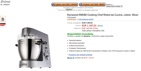 Offerta speciale Robot da cucina Kenwood KM086 con cottura ad ...