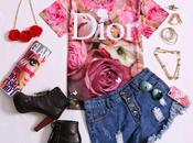 'ROMWE' Dior Roses Print T-shirt