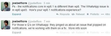Whatsapp WIndows Phone Telegram - Belfiore