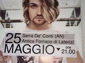 Valerio Scanu #Lasciamientrarelivetour pronto via…da Serra Conti