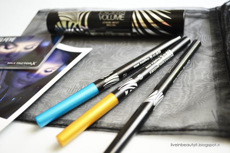 Max Factor, #Selfeye Excess Volume Etreme Impact Mascara & Eyeliners - Review and swatches