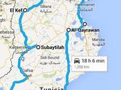 giorni, viaggiatori, macchina, Tunisia