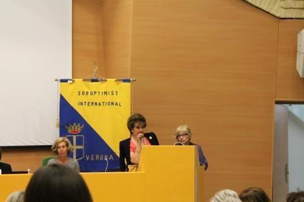 Le presidenti Soroptimist di Verona e Mantova salutano i partecipanti