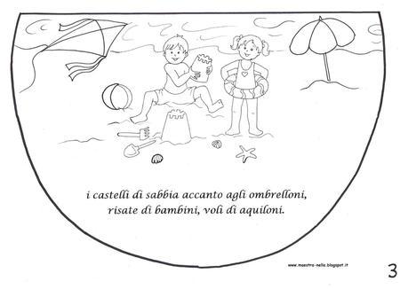 Libricino filastrocca estiva paperblog for Lavoretti natale scuola infanzia maestra mary