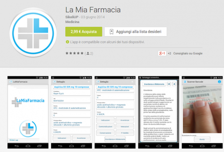 La Mia Farmacia App Android su Google Play 600x408 La mia Farmacia: addio foglietto illustrativo grazie ad Android applicazioni  play store google play store