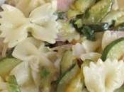Farfalle zucchine pancetta