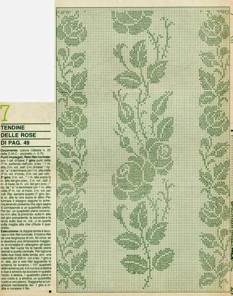 Schemi per il filet tendine in fiore paperblog for Immagini uncinetto filet