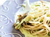 Linguine funghi porcini crema asparagi selvatici