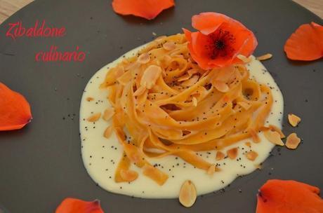 Tagliatelle ai peperoni con crema di Parmigiano Reggiano