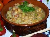 Zuppa rustica ceci, fagioli farro