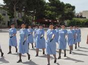 Trapani/ Reggimento Bersaglieri. L'addestramento delle allieve della Croce Rossa italiana