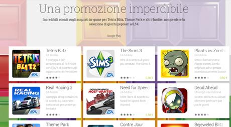 Una promozione imperdibile App Android su Google Play 600x331 Promozione EA Mobile: tanti giochi a 0,50 euro su Play Store giochi  play store google play store