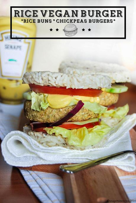 Rice vegan burger