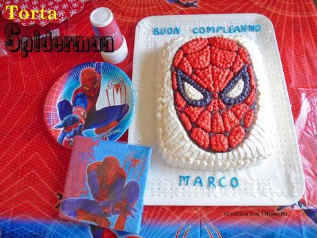 Torta uomo ragno spiderman paperblog for Decorazione torte spiderman