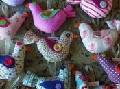 Uccellini colorati battesimo Olivia.
